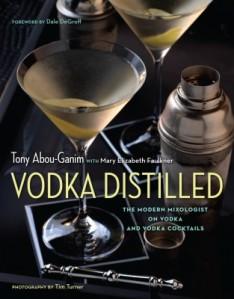 Tony new Book Vodka distilled